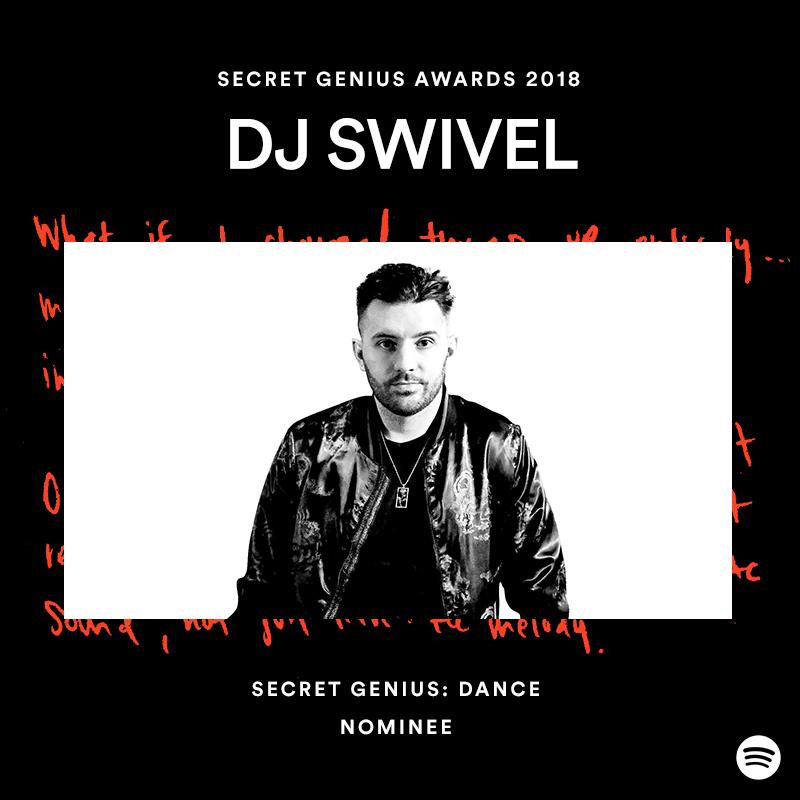 DJ Swivel Nominated for 2018 Secret Genius Award